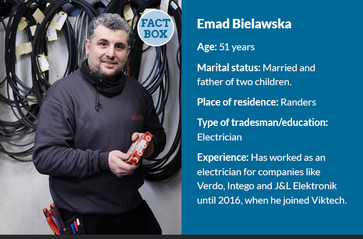 Viktech employee Emad Bielawska is challenged professionally all the time.